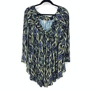 Free People Sz S Off The Shoulder Ikat Print Tunic